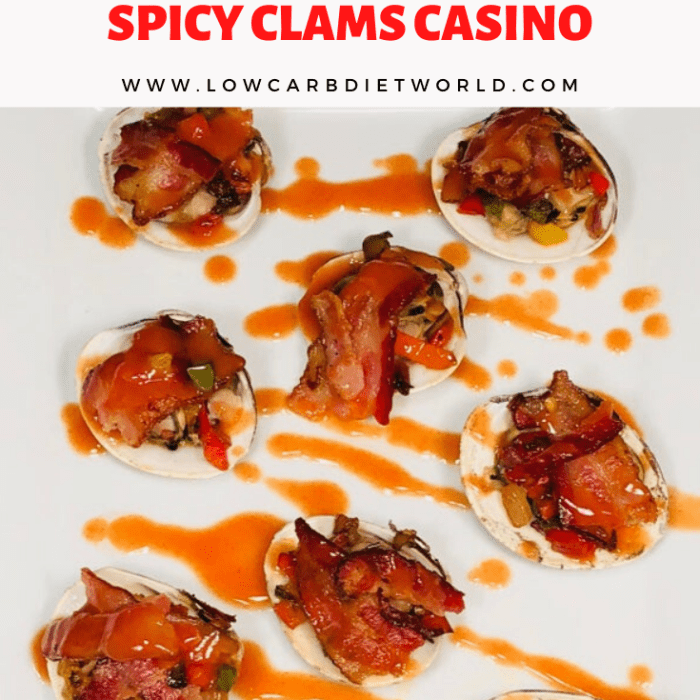 Keto Spicy Clams Casino