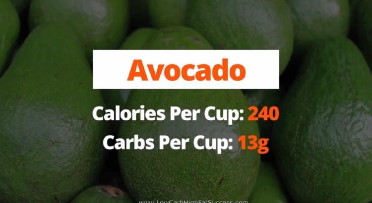 Avocado - calories, carbs, health benefits low carb food