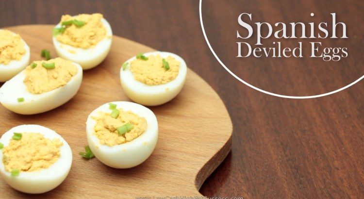 Spanish Deviled Eggs Low Carb Ketogenic Diet Recipe