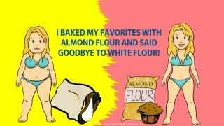 low carb lifestyle - almond flour instead of white flour