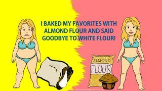 low carb lifestyle - almond flour instead of white flour