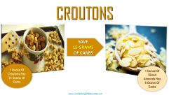 low carb swap for croutons