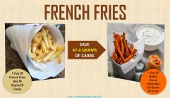 low carb swap for french fries