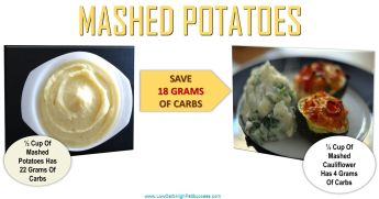 low carb swap for mashed potatoes