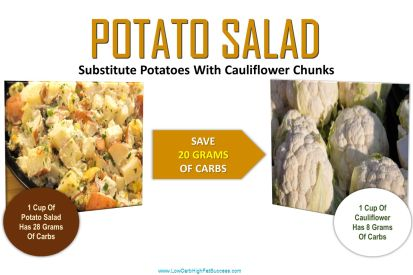 low carb swap for potato salad