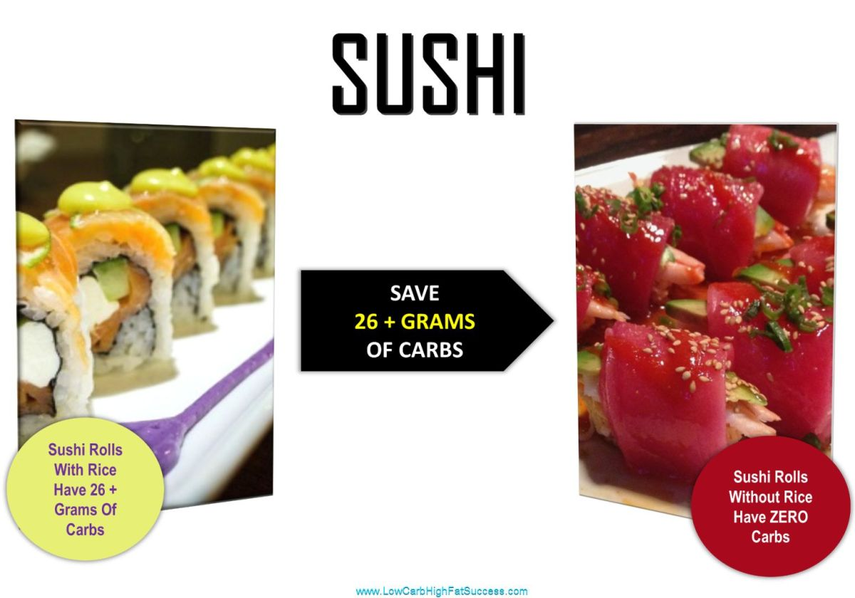 low carb swap for sushi