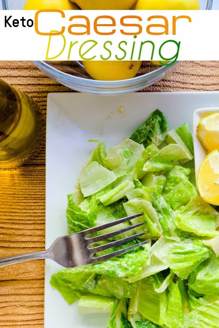 keto Caesar Salad Dressing pin 1
