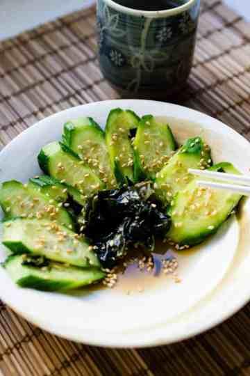 keto Japanese Cucumber Salad cover