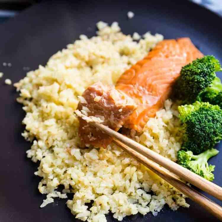 keto Miso Salmon Marinade w/Cauliflower Rice pic