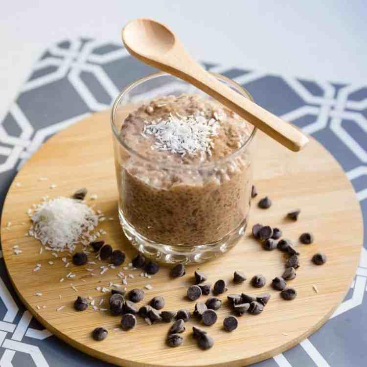 keto Chocolate Coconut Chia Pudding cover