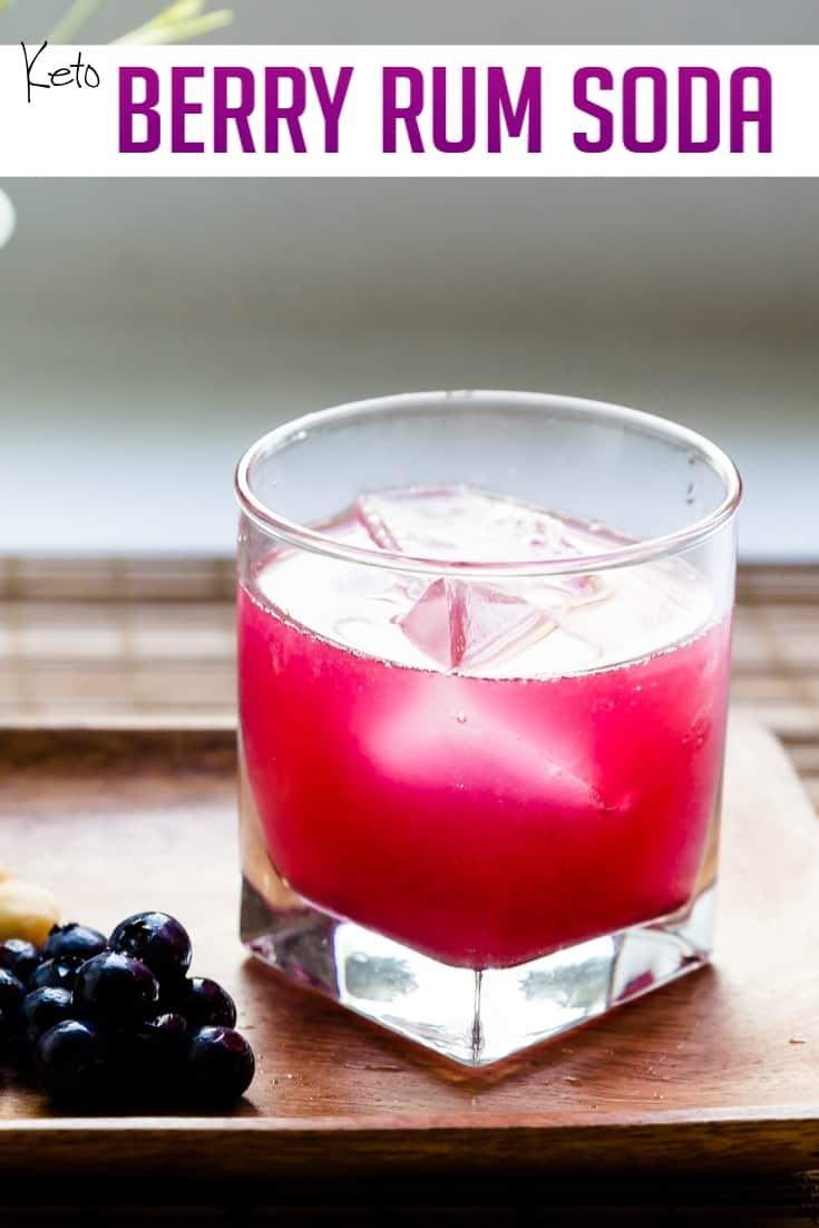keto Berry Rum Soda pin 1