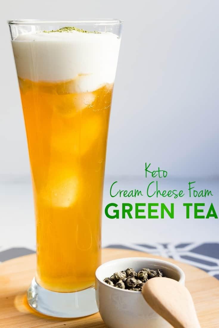 keto Cream Cheese Foam Green Tea pin 2