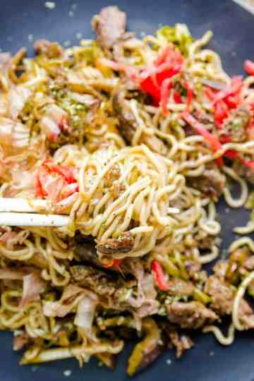 Low Carb Stir Fry Noodles- Yakisoba cover