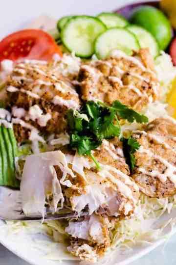 Keto Fish Taco Salad LowCarbingAsian Cover