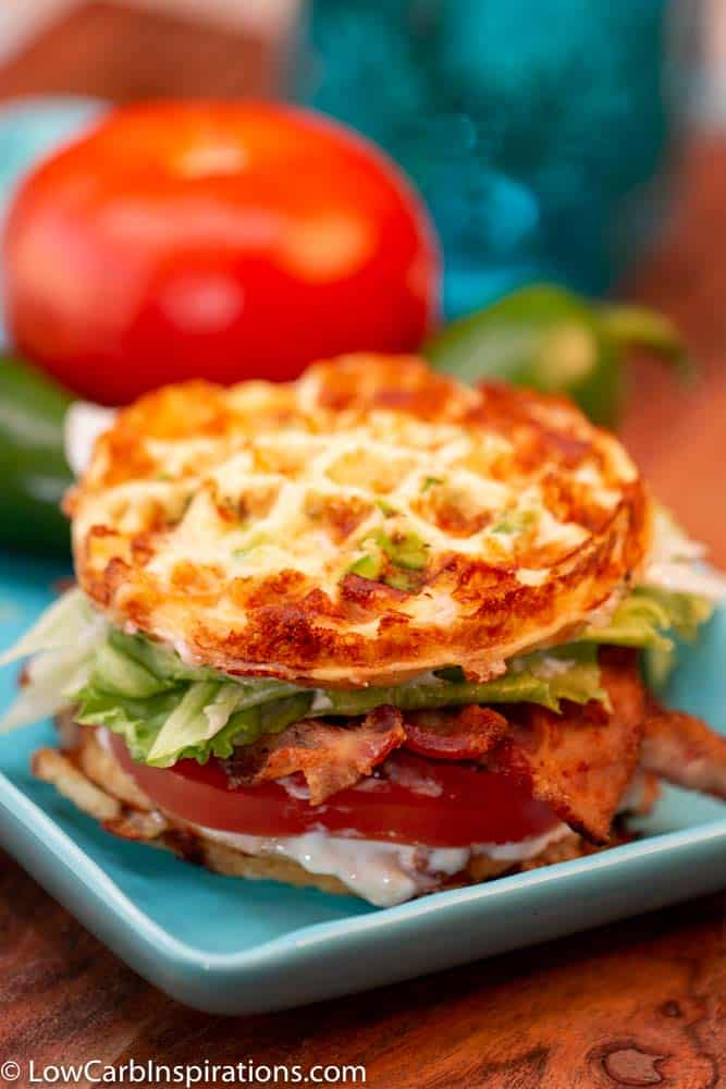 Keto BLT Chaffle Sandwich - Low Carb Inspirations