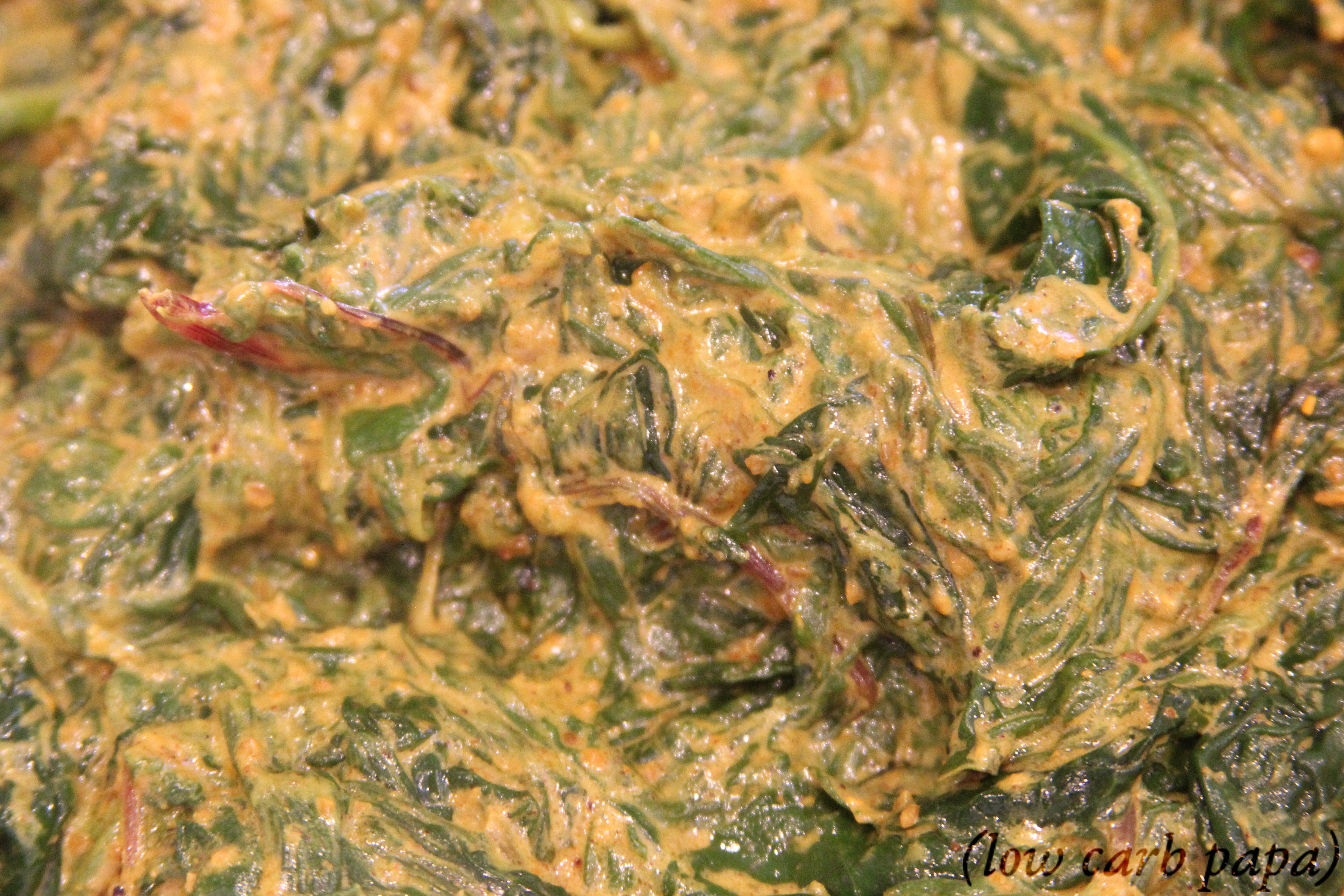 creamed curried baby greens