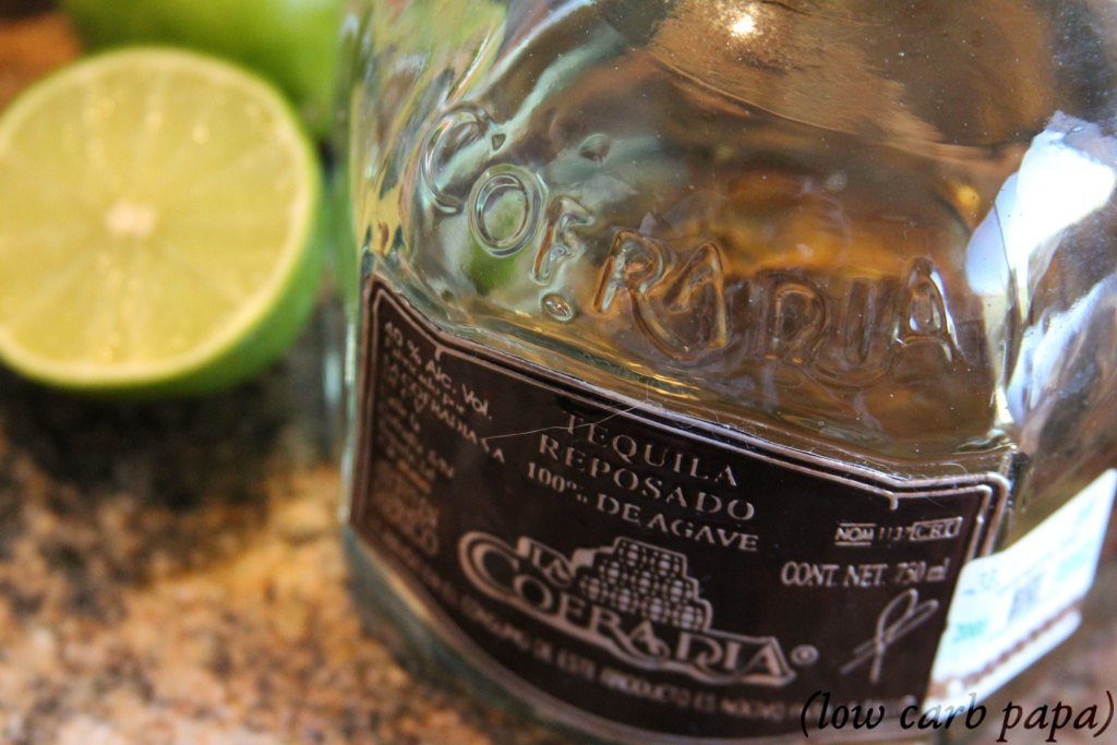 reposado tequila and lime for keto apple pie margarita