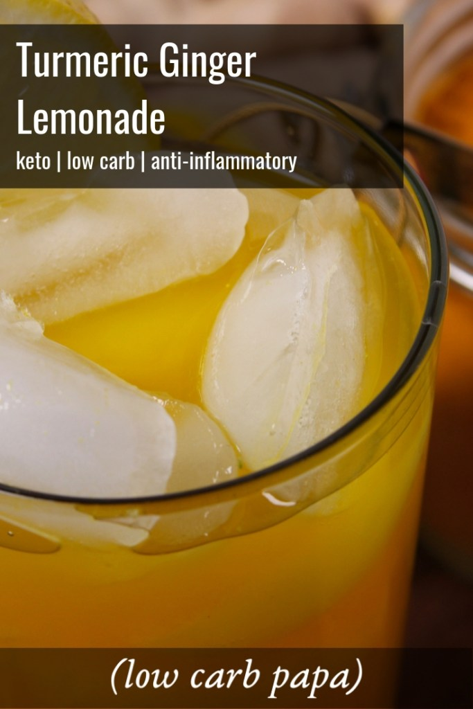 Turmeric Ginger Lemonade {keto | low carb}