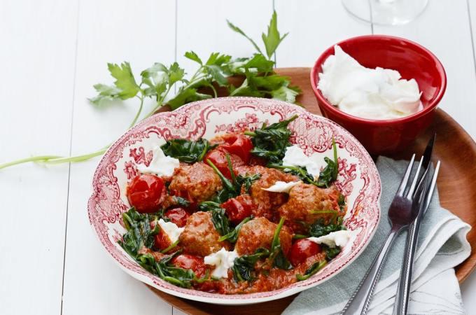 Italian Meatballs With Mozzarella Cheese