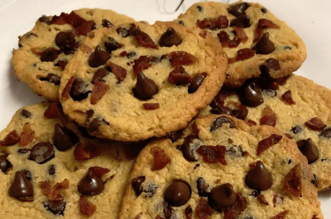 Keto Bacon Chocolate Chip Cookies