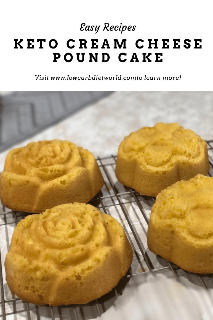 Keto Cream Cheese Pound Cake