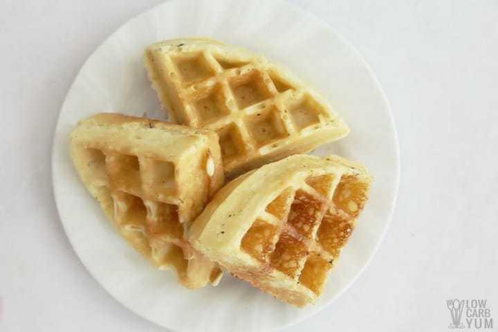 Easy keto low carb almond flour waffles recipe