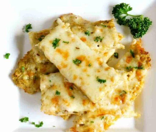 Cheesy Cauliflower Bread Sticks Recipe