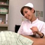 包茎手術で禁欲中の敏感チンポをドSなナースから手コキされて射精した