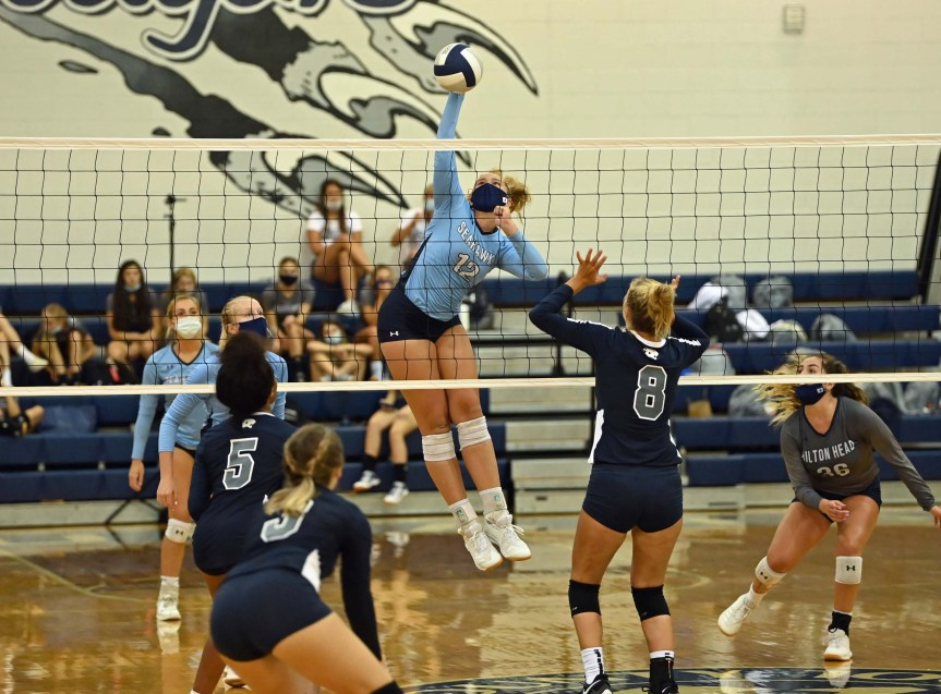 HSVB: Seahawks keep rolling with sweep of Cougars (+PHOTOS)