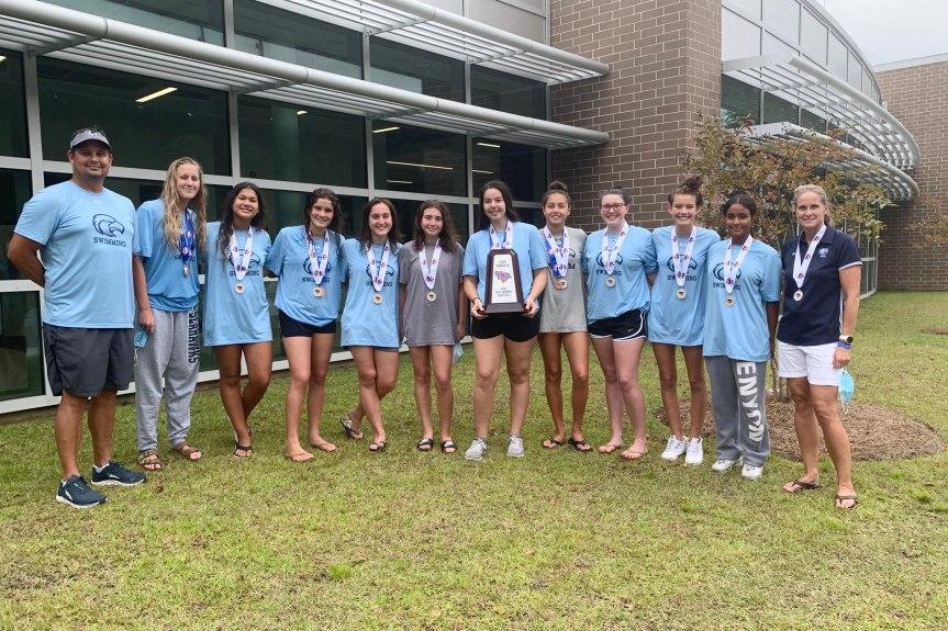 HSSWIM: Seahawks 2nd, Sharks 4th at girls' state meet