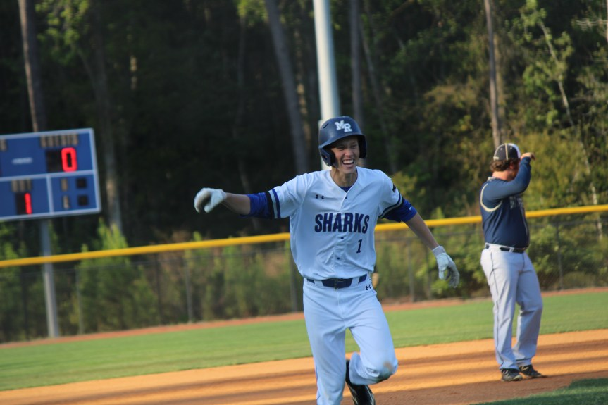 HS BSB: Sharks strike early, hold off Creek