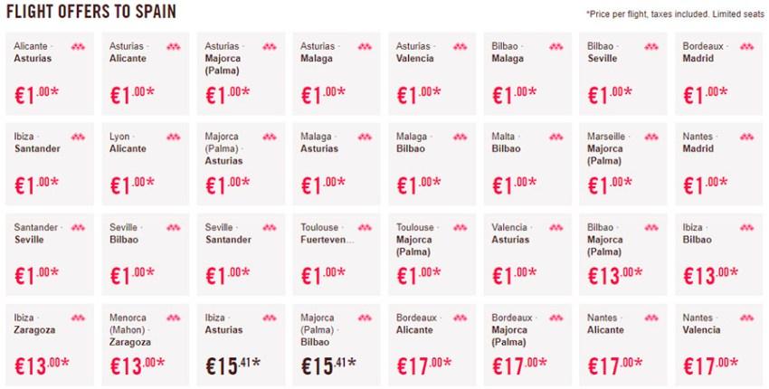 Дешеві перельоти у Іспанію
