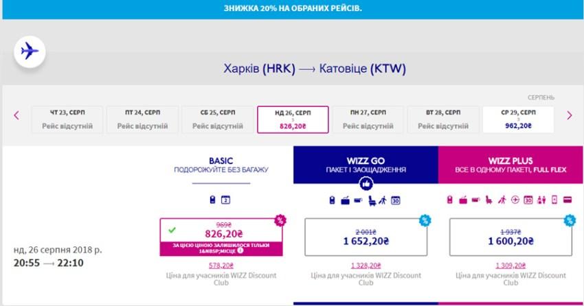 Переліт із Харків - Катовіце зі знижкою 20%: