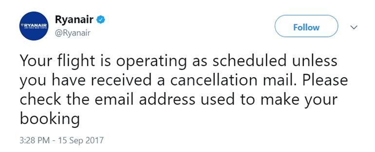 Ryanair twitter