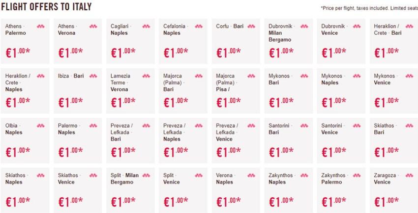 Дешеві авіаквитки в Італію