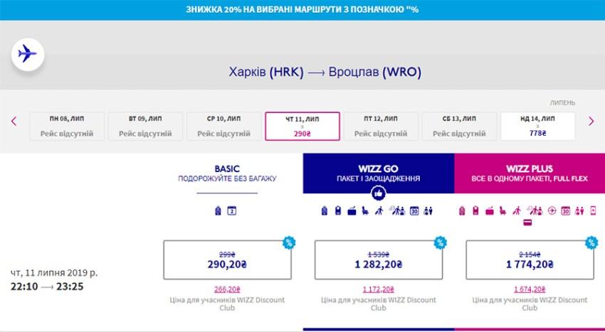 Авіаквитки Харків - Вроцлав зі знижкою 20%
