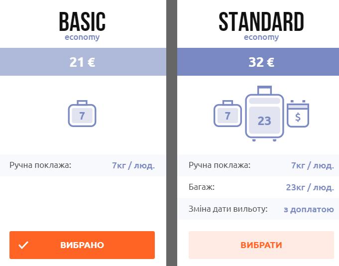 Тарифи SkyUp Airlines із Харкова в Київ