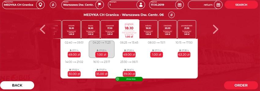 Автобусні квитки Медика - Варшава на сайті Neobus