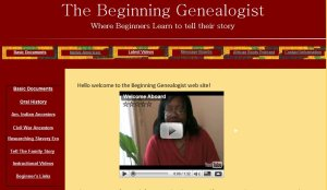 beginning genealogist website