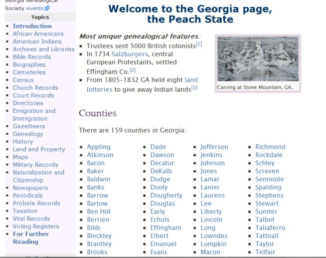 Georgia Genealogy FamilySearch Wiki