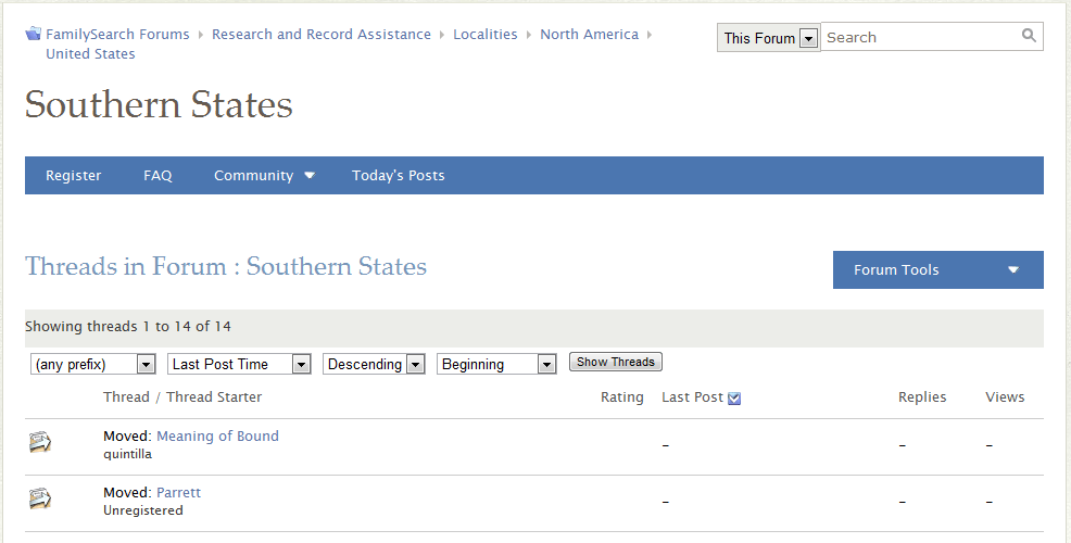 Southern-States-FamilySearch-Forums