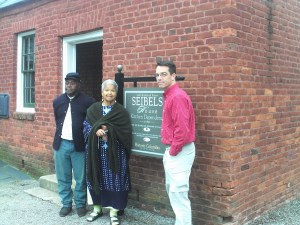 Terry James, Ruth Rambo and John Scherrer at Seibels House