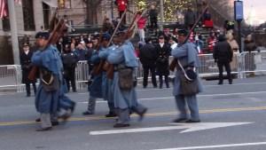 54th Mass Company I in Inaugural Parade Photo Courtesy of Bernice Bennett
