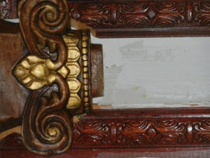 Detail of Carving in Home of Ossabaw Descendant Mr Bess