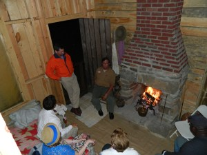 Guests in Woodburn House Cabin Photo by Richard Owens