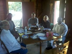 Enjoying Breakfast Prepared by Brian Davis