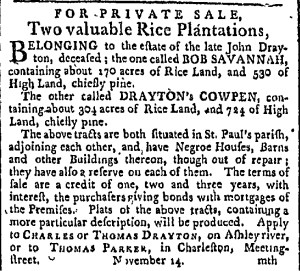 Draytons Cowpen Adv for Sale