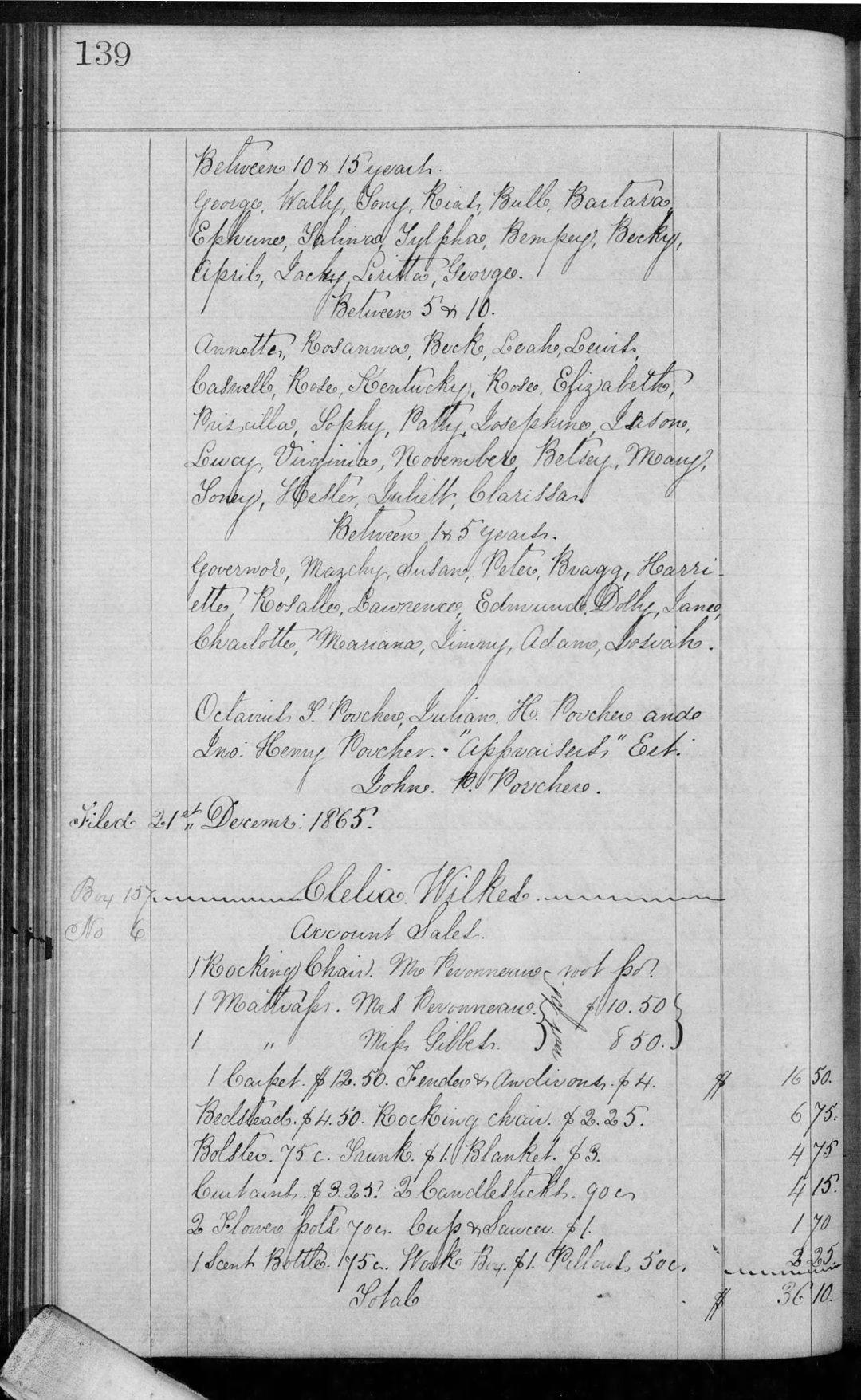 Porcher John P Est Inv Book G (1864-67) p139