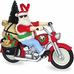 Santa On Motorcycle Embellishments