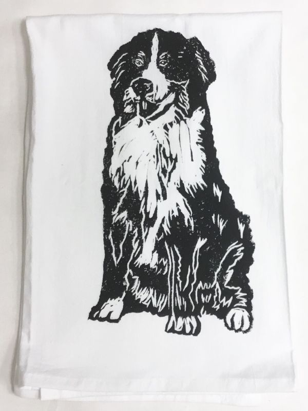 Bernese mountain dog towel